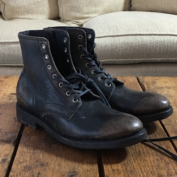 bcc2f4de450 FRYE Bowery Lace up Ankle Boots 9D Black NWT